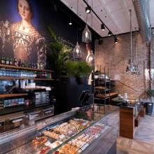 Interiér kavárny, cukrárny, pekárny ...