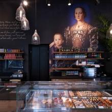Interiér kavárny, cukrárny, pekárny Binario 11