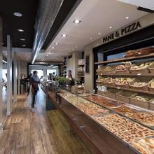 Interiér pekárny Pane & Pizza