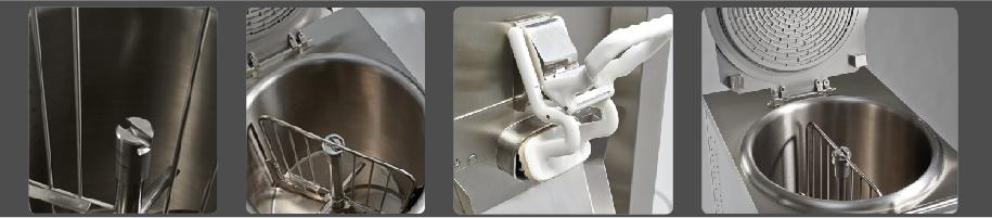 Detail výrobníku odaplovaného těsta